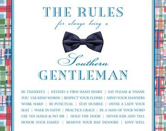 Southern Gentleman Poster 7.5x7.5