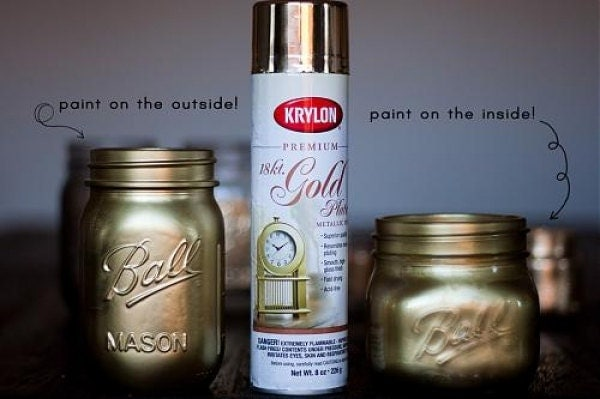 18 karat premium gold plate metallic finish spray paint aerosol can 8. Black Bedroom Furniture Sets. Home Design Ideas