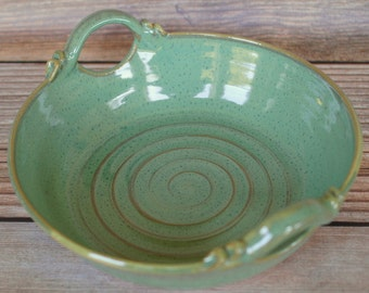 Pottery Baking Dish with Handles - Ceramic Casserole Dish - Serving Dish - Ceramic Baking Dish - Kitchen Bakeware - Ceramics and Pottery
