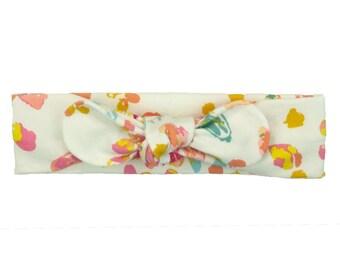 Baby Headband, Toddler Headband, Adult Headband, Baby Girl Headband, Top Knot Headband, Bow Headband, Floral Headband, Watercolor Floral