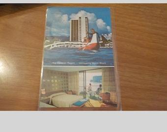 Vintage Original The Hawaiian Regent Overlooking Waikiki Beach Hawaii Postcard Free Shipping