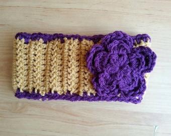 UW Husky headband-purple and gold