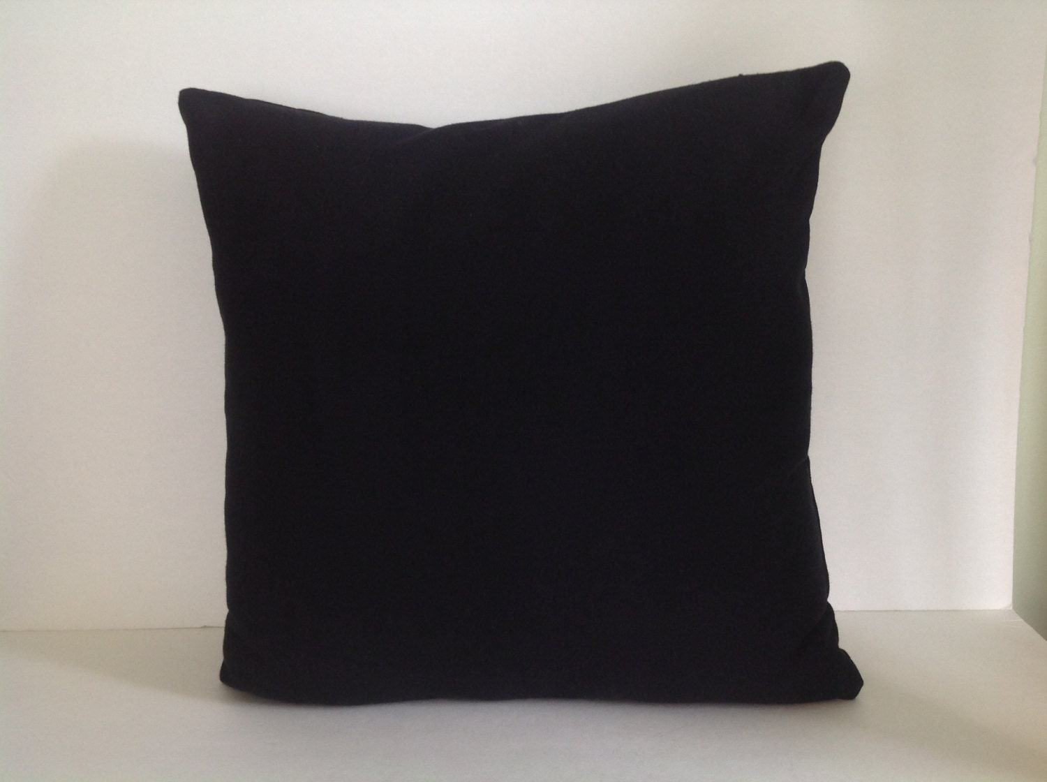 Blank Decorative Pillow Covers : Black canvas pillow cover blank throw pillow cover diy
