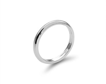 Sterling Silver 2.5mm Band. stackable rings. knuckle ring, thumb ring.