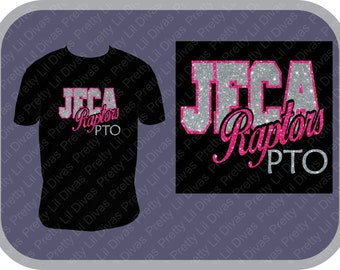 School PTO/PTSO glitter shirt