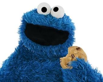 Cookie Monster-Digital Art Photo Print