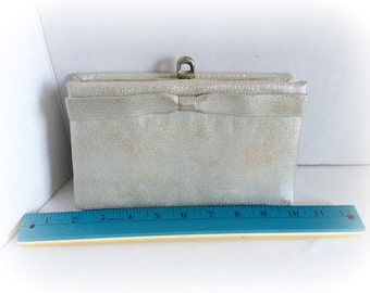 Vintage 50's Silver Clutch Purse by After Five
