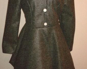 Handmade Coat with Handkerchief skirt
