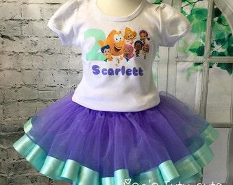 Bubble Guppies tutu, Bubble Guppies birthday outfit, Bubble Guppies tutu outfit, Bubble Guppies Birthday, Bubble Guppies birthday shirt