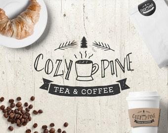 Coffee Logo - Logo Design - Premade Logo - Pre-designed Personalized - Customized Coffee Shop Cafe Tea Shop Restaurant Logo
