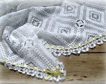 Crochet Baby Blanket, granny squares afghan, Newborn Baby Blanket, Crochet Infant Blanket, Crochet Baby Afghan, Baby Stroller Blanket.