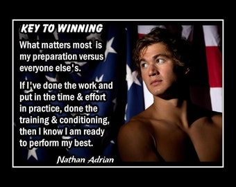 nathan kress bodybuilding. nathan adrian, swimmer motivation quote poster, swimming inspiration wall art, son confidence kress bodybuilding