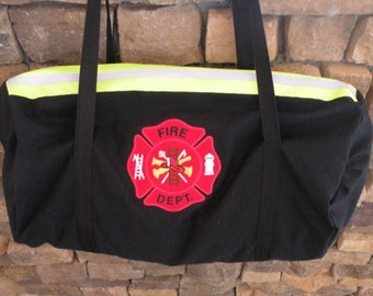Fire Fighter Duffle bag  Black