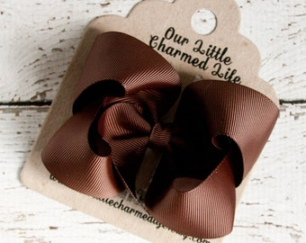Brown Hair Bow, Brown Hairbow, Brown Boutique Hair Bow, Brown Bow, Brown Hair Clip, Toddler Hair Bow, Baby Hair Bow, Thanksgiving Bow
