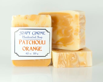 Patchouli Orange Buttermilk Soap with Shea Butter and Olive Oil