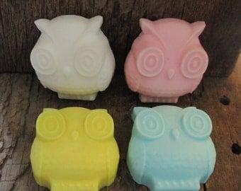 25 Large Owl Shea Butter Soap Wedding, Bridal, Baby Showers, Birthdays 3.6 oz.