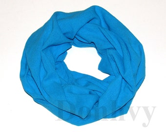 Girl's Infinity Scarf. Child Turquoise Scarf.