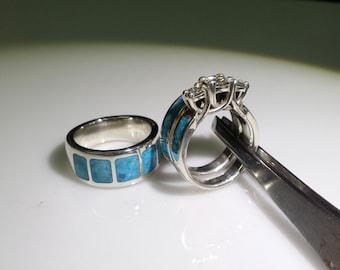 AMAZING turquoise and sterling wedding set.