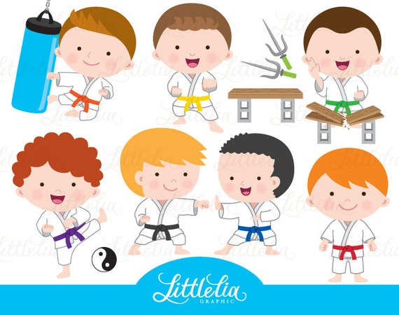 Karate Boy Clipart Taekwondo Boy Clipart on design my own page