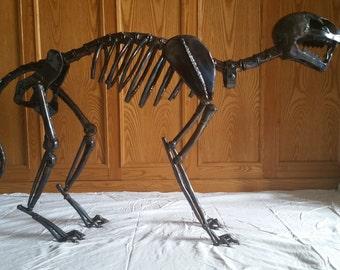 Big Cat Skeleton Sculpture