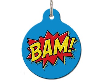 Bam! Comic Book Pet ID Tag | FREE Personalization