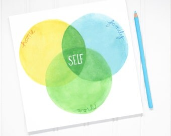 Venn diagram life balance Notepad
