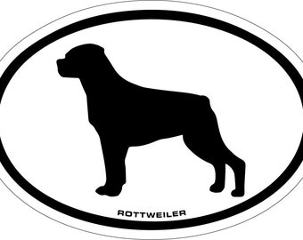 Rottweiler Vinyl Decal Sticker