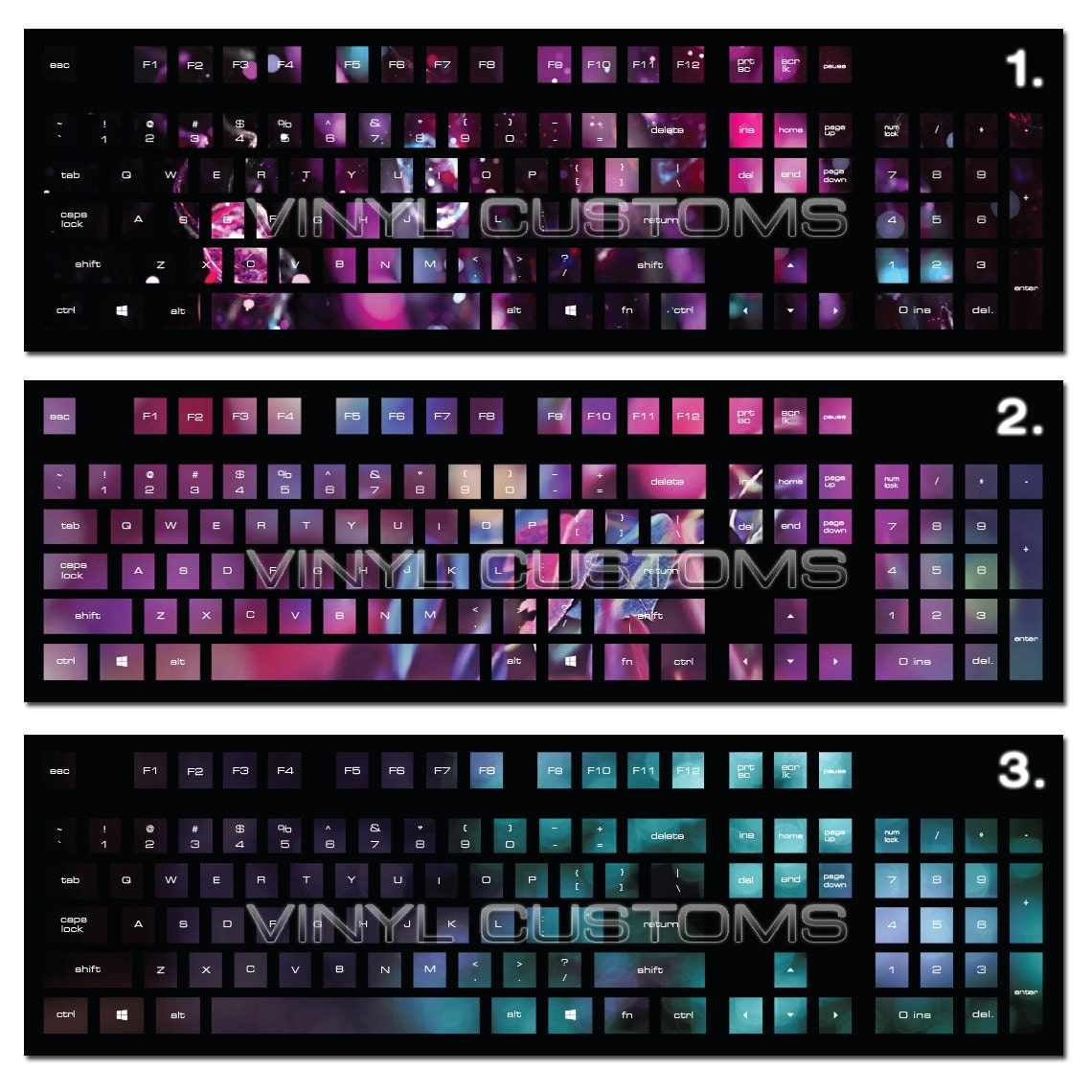 Mechanical Keyboard Cherry Mx Keycaps Pc Vinyl Decals Skin