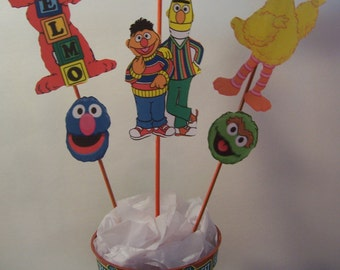 Sesame Street Theme Centerpiece- almost foot tall-Theme party Decoration