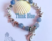 Think Blue bracelet  - Blue Aventurine