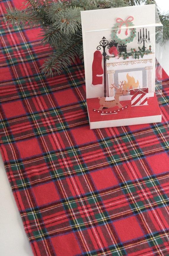 Runner Runner, Christmas Christmas Tartan Red Table Table Table Plaid Runner,  Tartan Table Runner ...