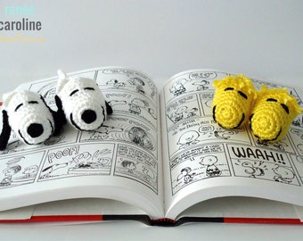 Snoopy and Woodstock Crochet Baby Booties - Please Select Set and Size