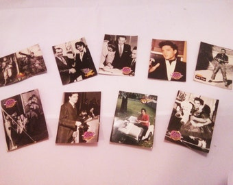 Vintage 9 cards of Elvis Collection