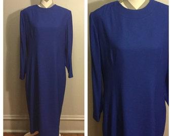 1950s Royal blue Henry lee dress