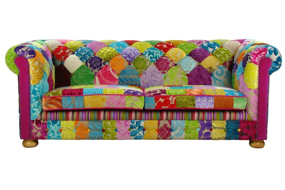 Bespoke Patchwork Chesterfield 3 Seater Sofa By Justinadesign