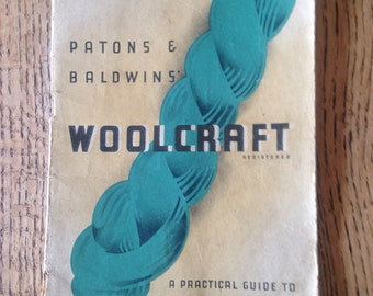 Vintage Knitting Booklet, Patons and Baldwins, Woolcraft Pattern Booklet, Knitting and Crochet Guide, Booklet 1960's