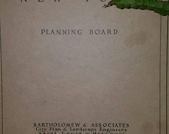 NeW BiG SaLe....RARE rare Antique 1929 City Planning Board, A Major Street Plan for ROCHESTER New York, ephemera