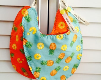 Reversible Bibs | Pineapple Party [Bib #33/34]