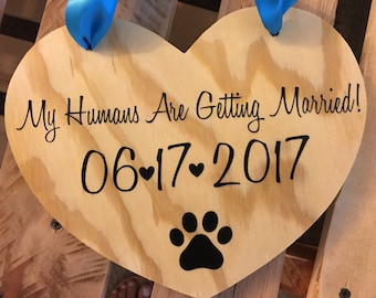 NEW - My Humans Are Getting Married with Wedding date and Paw Print