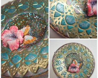 PIN Shabby chic turqoise and gold