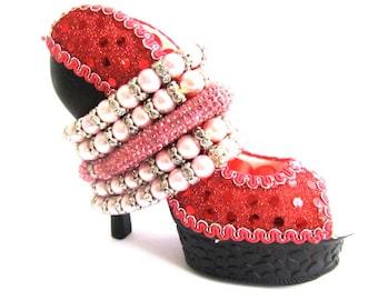Pink Rhinestone Shamballa Bracelet Set