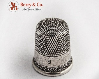 SaLe! sALe! Vintage Thimble Sterling Silver 1890
