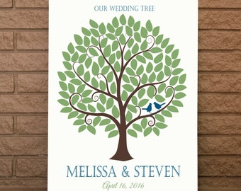 Wedding Guest Book, Wedding Sign Book, Wedding Guestbook, Wedding Guest Tree, Wedding Guest Book, Up To 120 Guest Signatures, 11x14 Size