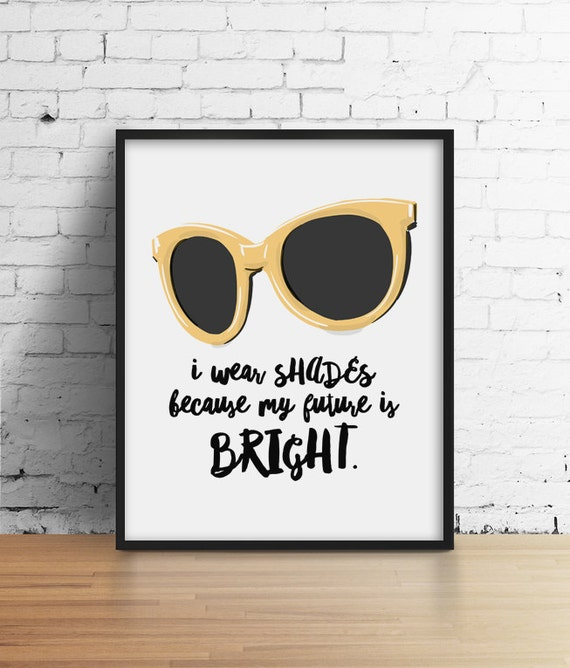 Glasses Quotes: Sunglasses Poster Summer Print Sassy Quote Funny Print