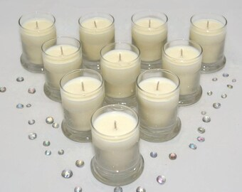 10 - 2 oz. Status Jar Soy Votives. 100% All Natural Vegan Soy. Pick your Scent. 80+ Fragrances. Cruelty-Free