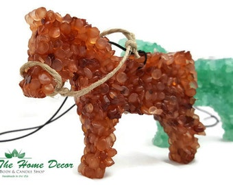 Horse Shaped Aroma Bead Air Freshener with Hemp Reigns Accent