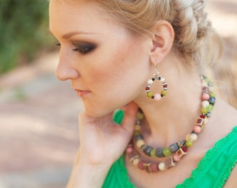 Boho Chic Jewelry Set, Beaded Jewelry set