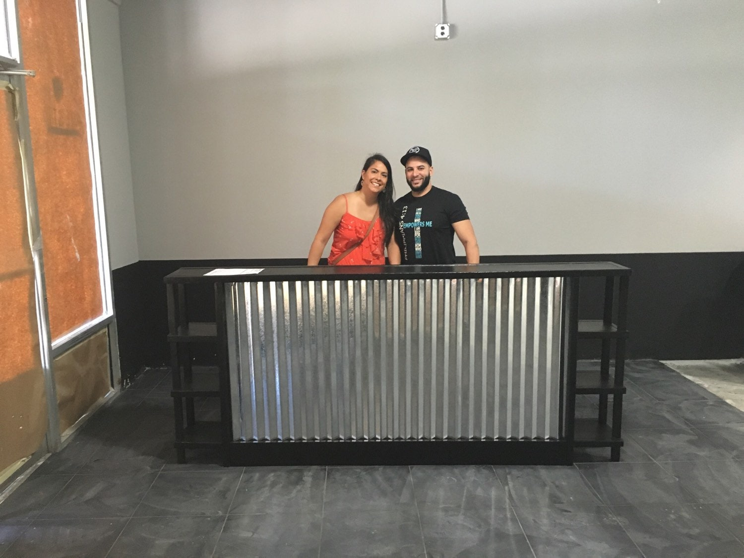 The Salon 8 Corrugated Metal Sales Counter Or Reception