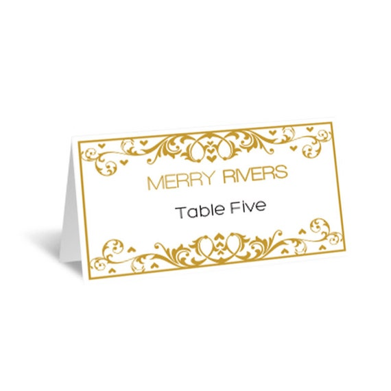 Items Similar To Wedding Place Cards Editable PDF Template