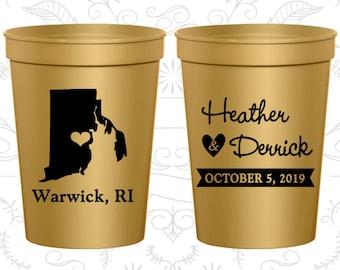 Rhode Island Wedding Cups, Rhode Island Wedding, Wedding Drink Cups, Destination Wedding, State Cups, souvenir stadium cup (138)